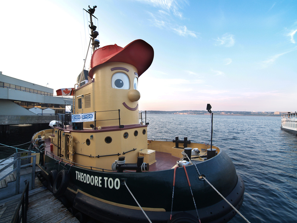 """A """"cartoon"""" tugboat from a popular children's TV show."""