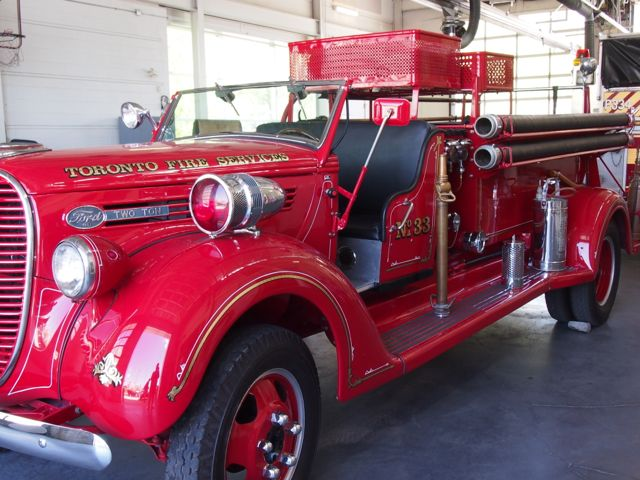 Antique fire truck in Toronto, ON, Canada