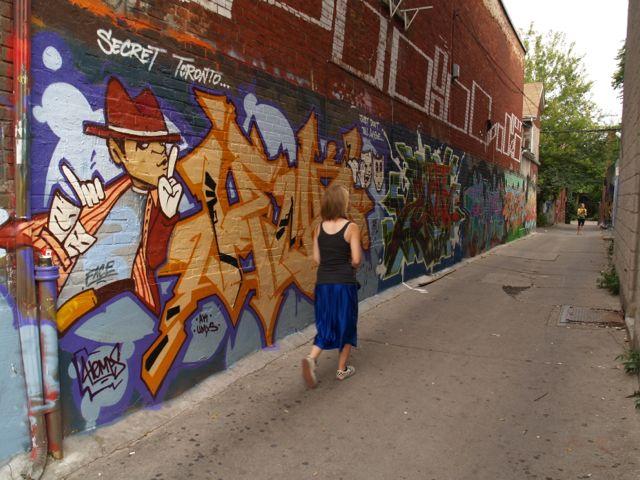 """Fancy """"Secret Toronto"""" mural"""