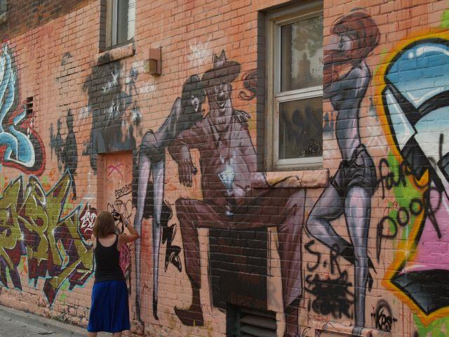 """One of the murals in the """"Secret Toronto"""" alleyway"""