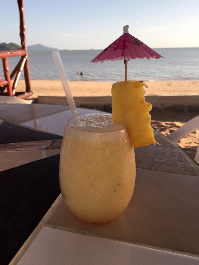 Pina Colada on Vera Cruz beach in Panama