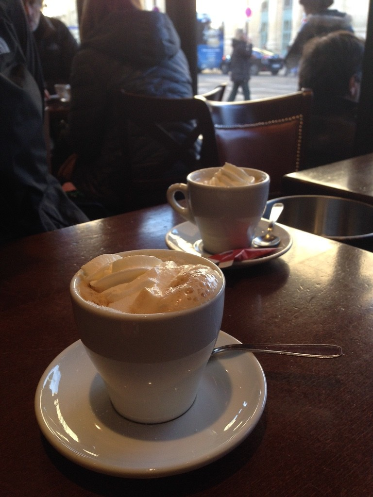 Coffees in a Paris cafe