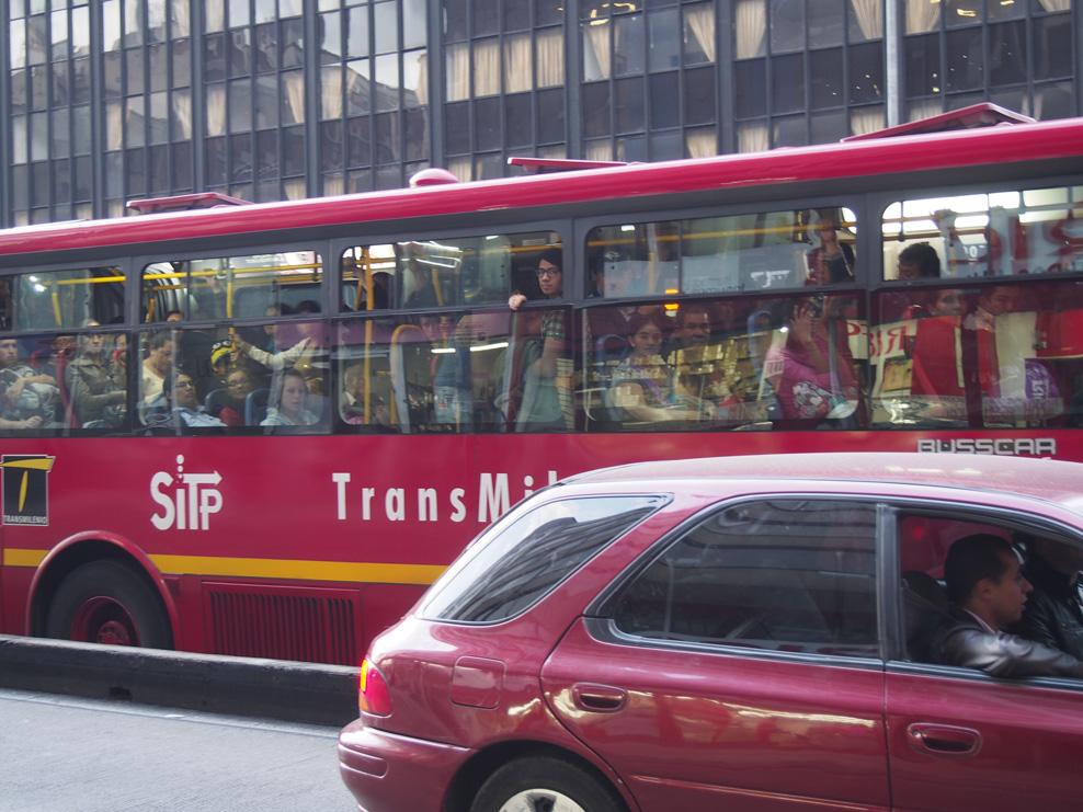 TransMilenio (the city bus service in Bogotá Colombia)