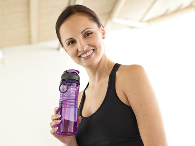 Rubbermaid water bottle.